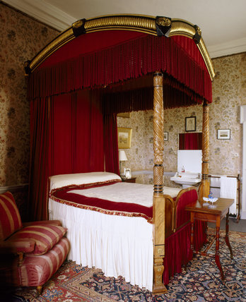 The Wisteria Bedroom At Dunster Castle Showing The