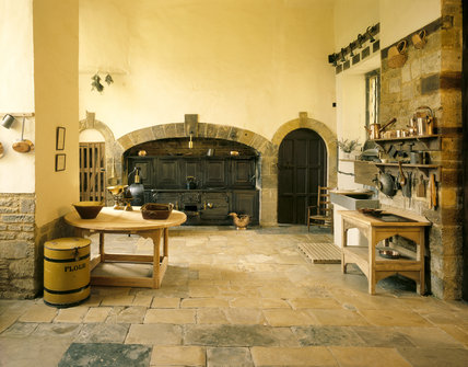 Canons Ashby The Kitchen With Victorian Cast Iron Range