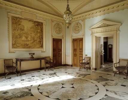 The Marble Hall Showing The Black White And Grey Marble