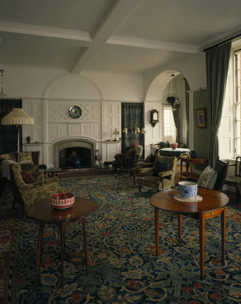 The Victorian Drawing Room At Standen With Morris Carpet