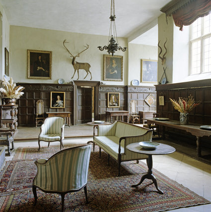 The hall at chastleton house chastleton house at national for Classic country house interiors