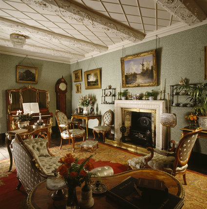 A View Of The Blue Drawing Room In Speke Hall Speke Hall