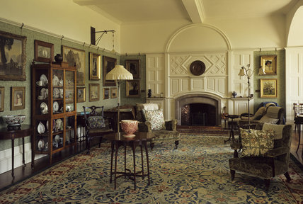 Standen The Drawing Room With William Morris Carpet Hand