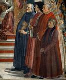 D.Ghirlandaio / Lorenzo Medici a.o./ C15 / DETAIL