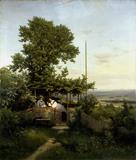 E.Leonhardi / View of Elbe Valley / 1863