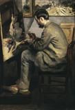 Renoir/ Bazille paints .../ 1867