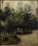 C.Pissarro / Garden in L'Hermitage
