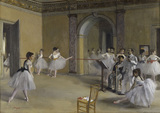 E.Degas / Ballet room at Opera Peletier