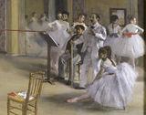 E.Degas / Ballet room at the Peletier / DETAIL