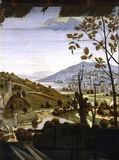 D.Ghirlandaio /Adorat.o.th.Shep.,Landsc. / DETAIL