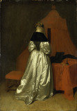 G.Terborch / Lady in white satin