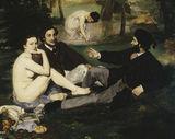 Edouard Manet, Dejeuner sur l'herbe/1863 / DETAIL