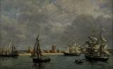 E.Boudin / Port of Camaret / 1872