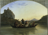 Ludwig Richter / Crossing the Elbe /1837