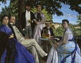 F.Bazille, Reunion de famille 1867 / DETAIL