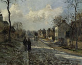 C.Pissarro, Road in Louvecienne / DETAIL