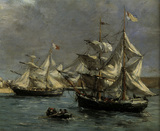 E.Boudin / Port of Camaret / DETAIL