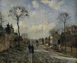 Pissarro / Street in Louvecienne / 1872