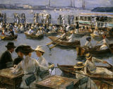 By th.Alster River / Liebermann / 1910