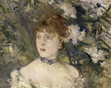 Morisot / Young lady in ballgown / 1879 / DETAIL