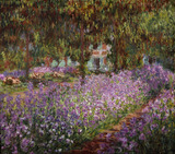 Claude Monet / Flower bed / Irises