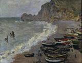 Claude Monet/ Etretat, plage et porte...