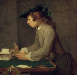 Chardin / Building House of Cards / 1737