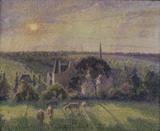 Pissarro / Paysage a Eragny, eglise ...