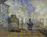 Monet / Gare Saint-Lazare / 1877 / DETAIL
