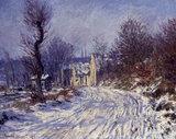 C.Monet, Route de Giverny en Hiver, 1885