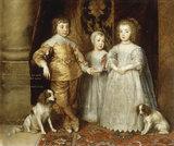 A.van Dyck, Children of Charles I, 1635.