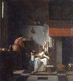 P.de Hooch, An Interior with a Woman.