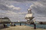 E.Boudin, Honfleur, c.1858-62.