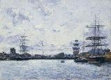 E.Boudin, Deauville.Le Bassin a Maree