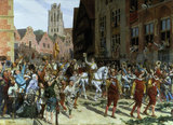 L.Gros, Triumphal Arrival, 1884.