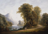 J.Campbell, Wooded River Landscape.