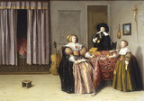 P.Codde, Three Figures around a Table.