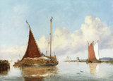 W.Freeman, Barge Carrying Reeds.