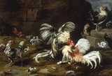 F.Snyders, A Cockfight, 1630s.