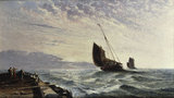 A.Meadows, Luggers Leaving Harbour, 1876