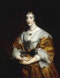 A.van Dyck, Portrait of Henrietta Maria.