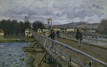 Sisley / Footbridge in Argenteuil / 1872