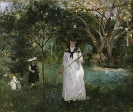 Morisot / La chasse aux papillons / 1874