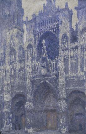 Monet / Rouen Cathedral / Harmonie grise / DETAIL