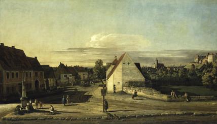 Pirna, Breitegasse / Painting / Canaletto