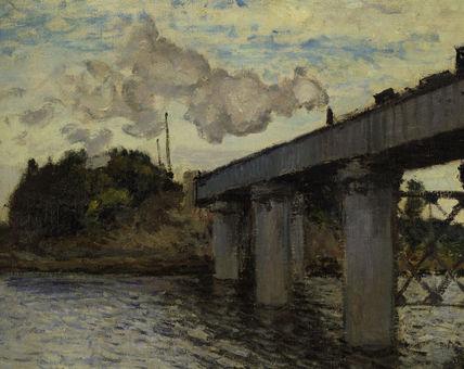 C.Monet / Railway bridge Argenteuil/1873 / DETAIL