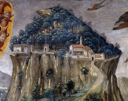 D.Ghirlandaio / La Verna / Det.of Fresco / DETAIL