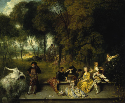 Antoine Watteau, Reunion en plein air