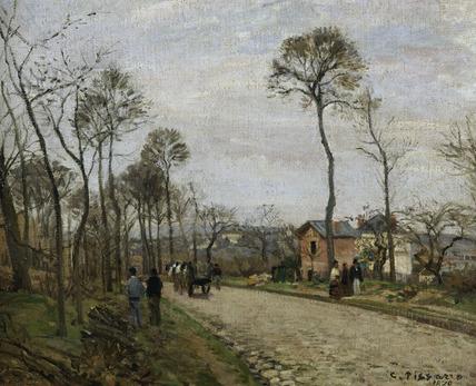 Pissarro / The road of Louveciennes/1870