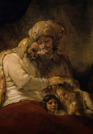 Rembrandt / Jacob's Blessing / DETAIL